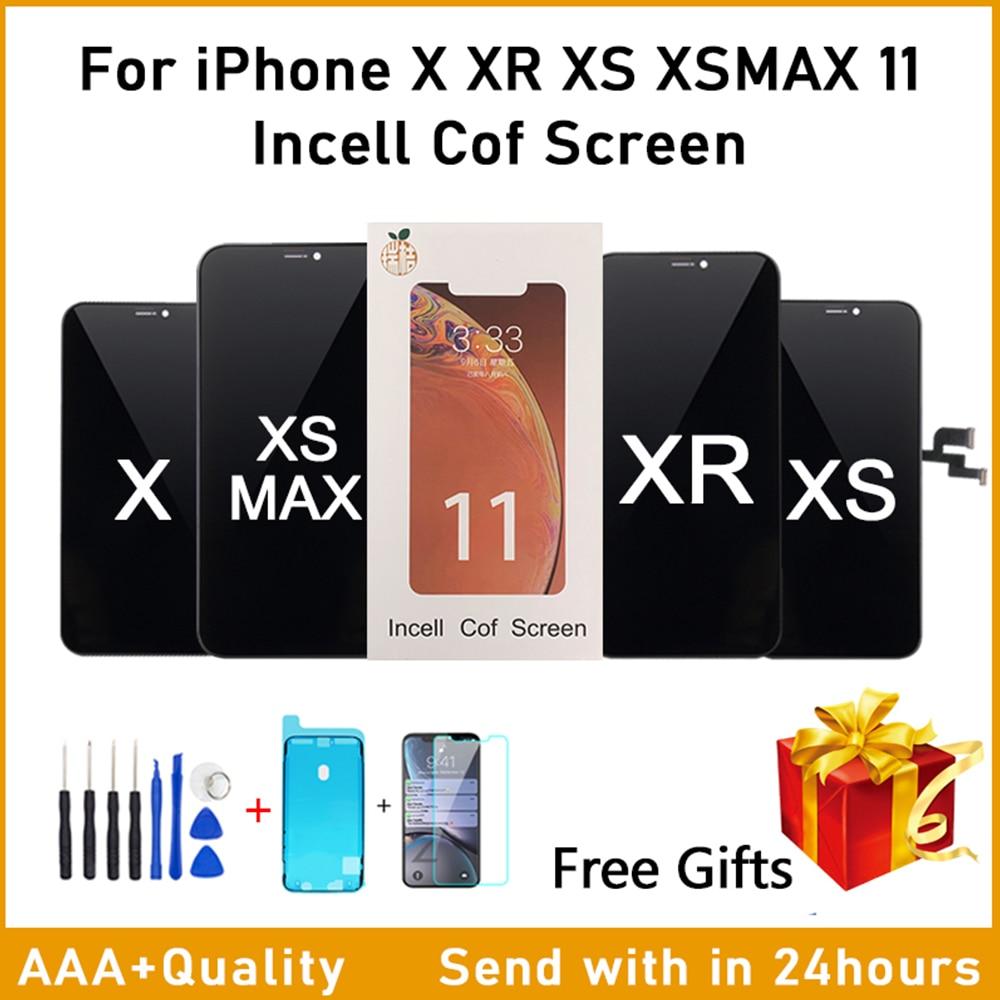 Экран ААА РЖ влагу внутри клеток для iPhone X ЖК отсутствие Мертвого пиксела с 3D сенсорный дигитайзер Ассамблеи для iPhone Х хз ХС xsmax 11 ЖК-дисплей с Подарок