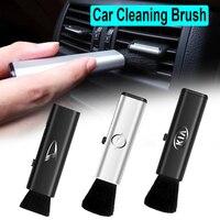Eliminador de polvo para coche, cepillo de limpieza retráctil y suave, para ventilación de aire, para Audi A3, 8p, 8v, A4, b8, b6, A5, A6, c7, c5, Q5, A1, Q7, Q3