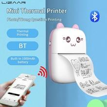 Карманный принтер, портативная термопечатающая машина, Bluetooth, миниатюрная фотография, ярлык, офис, дом, мобильный телефон Android iOS, 58 мм