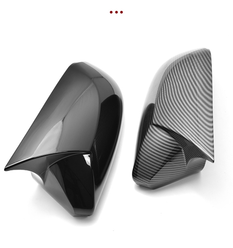 A Pair Horn Style Carbon Fiber Style Rear View Side Mirror Cover Caps Fit For Toyota Camry 2018+ Avalon 2019 C-HR 2016-2018+