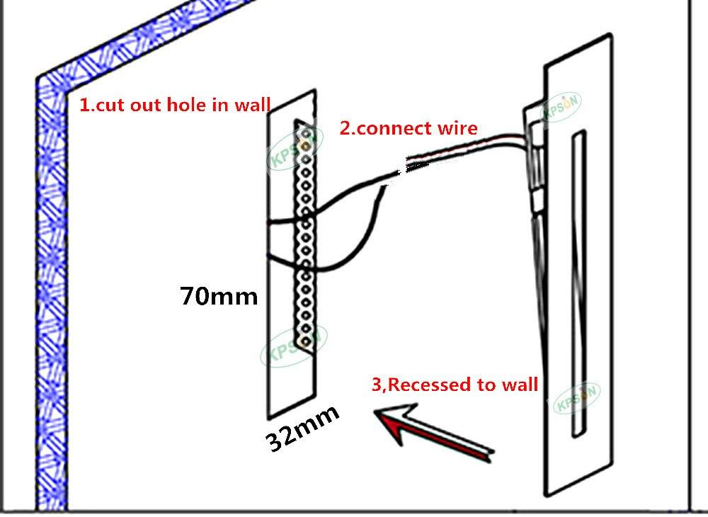 AC85-265V passo lâmpada caminho parede canto lâmpadas