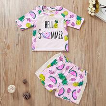New Fashion 2PCS Kids Baby's Girls Swimwear Swimsuit Bathing Bikini Beach Tops+Shorts
