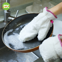 Bamboo Fiber Dishwashing Gloves Double-sided Cleaning Housework Thick Waterproof Not Lint Easy To Clean Single Only