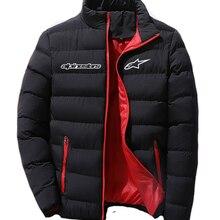 2021 Alpinestars Men's Fashion Jacket Zipper Comfortable Cotton Clothes Winter Snowy Day Warm Classic Style Men's Blouse Coat