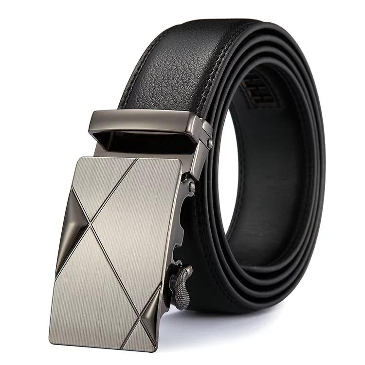 2020 PU Leather Mens Belts Automatic Buckle Fashion Belts For Men Business Popular Male Brand Black Belts Luxury
