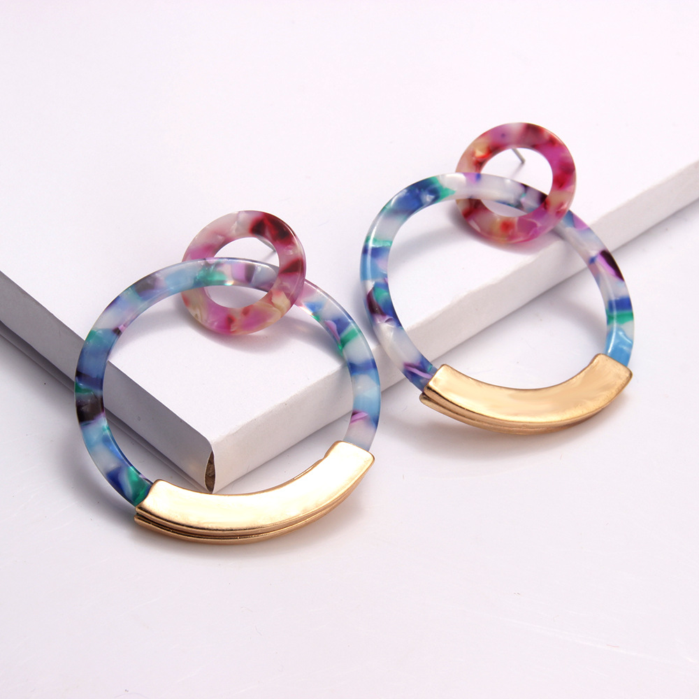 2020 Acrylic Boho Earrings for Women Acetate Dangle Drop Earings Fashion Big Bohemian Colorful Leopard Geometric Hanging Earring