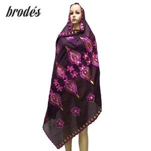 Африканская Женская шаль, женский длинный платок, 18 цветов с бусинами, тюрбант, внутренний хиджаб LH119
