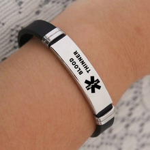 DoreenBeads Fashion (Medical Logo) Series Bracelet For Men Women Accessories Stainless Steel Medical Silicone Bracelet Charms medical monitor stand stainless steel medical trolley