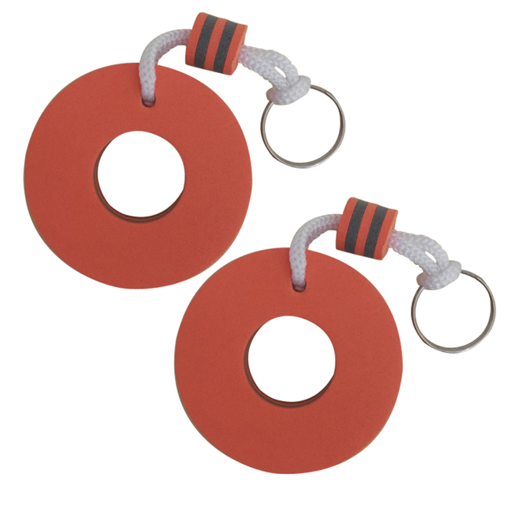 2pcs Keychains Eva Lifebuoy Water Buoyant Floating Decor Keyring For Outdoor Activities Vacation Shopping Mall Swimming Pool Gym