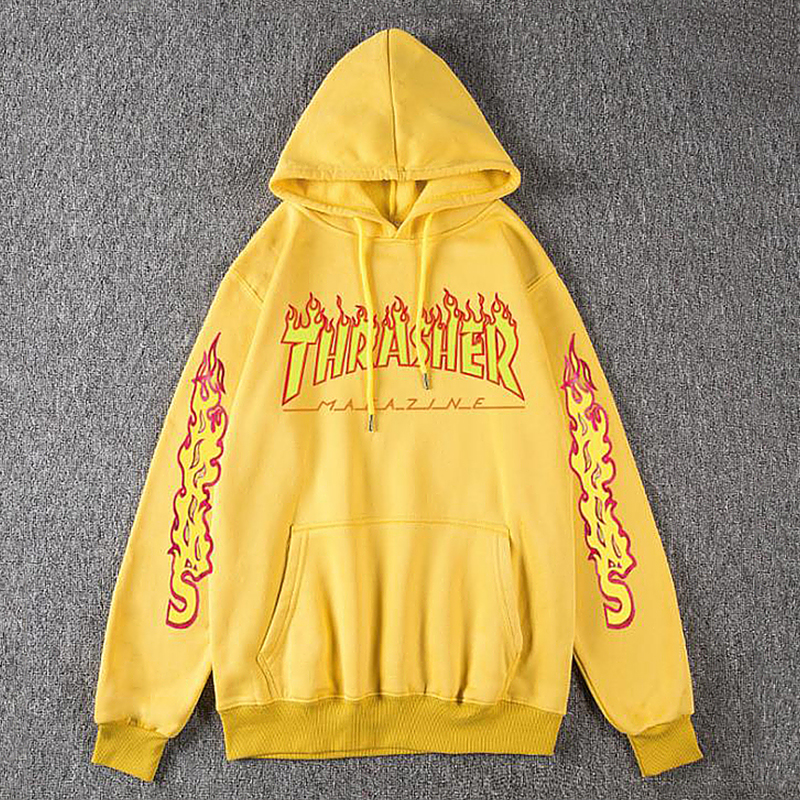 Men Women's Casual Hoodies Fashion Long Sleeve Flame Printed Couple Hoodies Sweatshirts S-4Xl 11