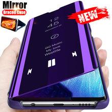 Inteligentne lustro etui na telefony z klapką dla Huawei P40 P20 P30 Lite Pro Y7 Y6 Y9 P Smart 2019 Mate 40 30 Honor 20 10 8A 8X 10i 9X pokrywa