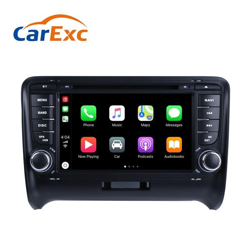 Android 9.0 Autoradio intégré CarPlay GPS Navigation Compatible avec pour Audi TT MK2 8J 2006-2016 voiture lecteur multimédia