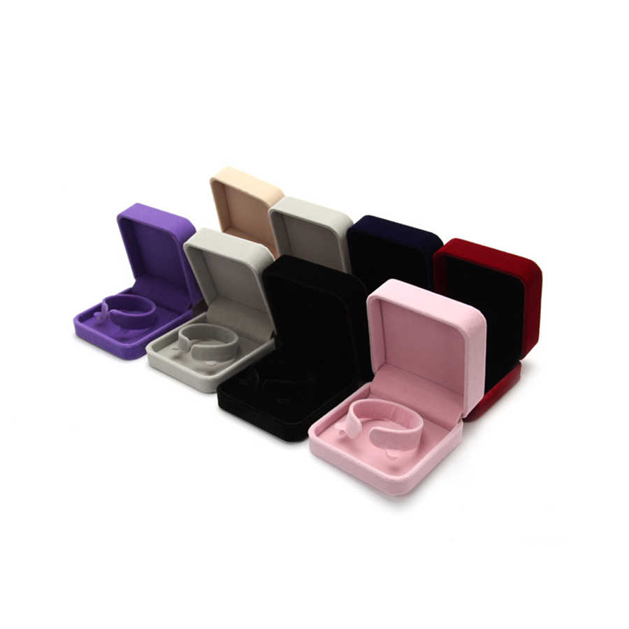 1Pcs קטיפה תכשיטי עגיל טבעת תצוגת אחסון ארגונית חתונה טבעת מקרה מחזיק מתנת קופסות תכשיטים ארגונית