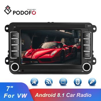 Podofo 2 Din Android 8.1 Car Radio GPS Car MP5 Multimedia Video Player 7'' WIFI Auto Radio Stereo For VW/Skoda/Passat/Golf/Polo image