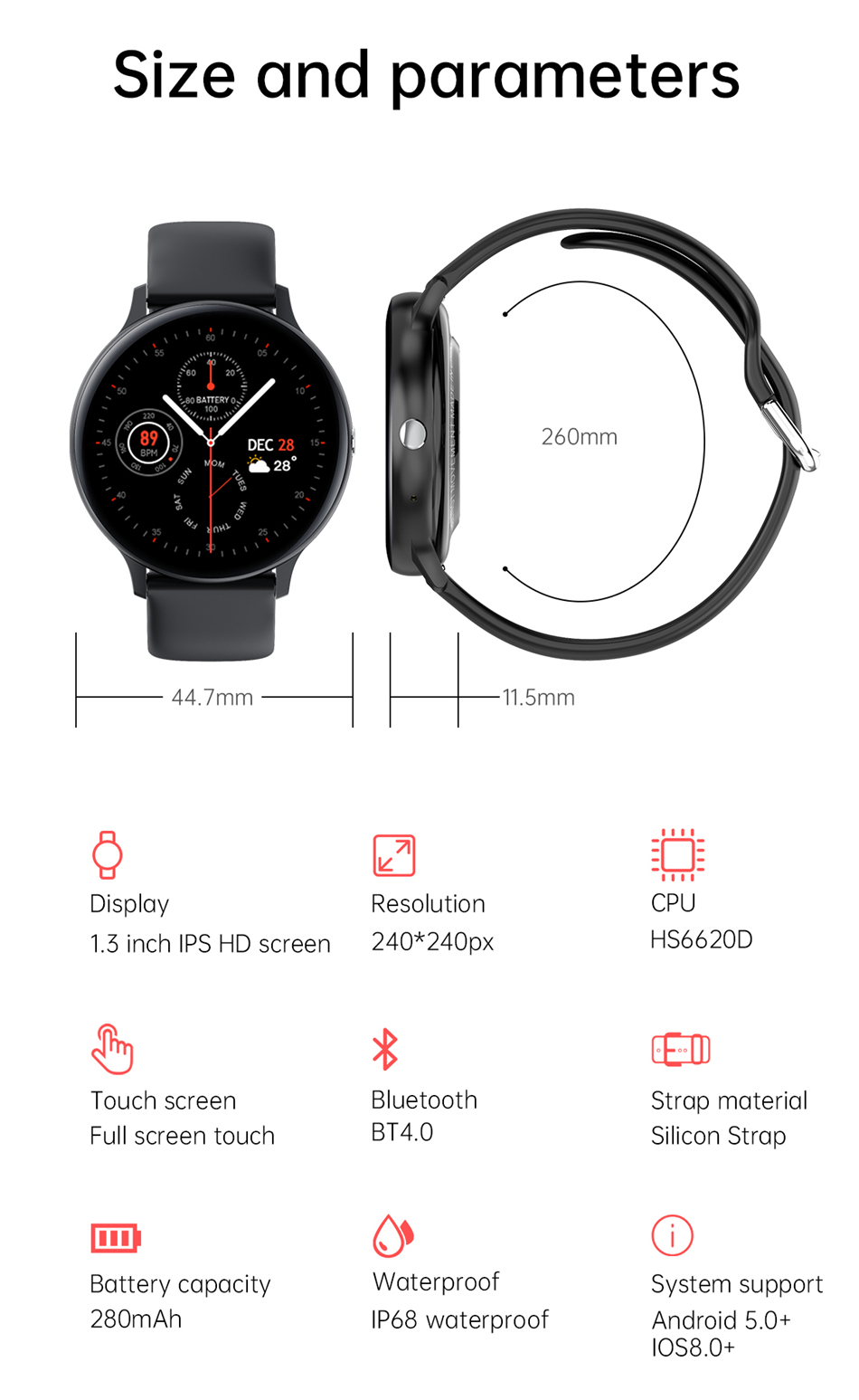 H35268d066e6a4b7eb7323d4d713ea7bbe 2021 Bluetooth Call watch Smart watch For men And women Full touch fitness tracker Blood pressure Smart clock ladies Smart watch