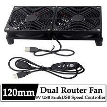 Gdstime Router wentylator chłodzący DIY PC Cooler tv, pudełko bezprzewodowy cichy DC 5V USB Power 120mm 240mm wentylator 12CM W/śruby siatka ochronna