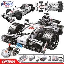 ERBO 729 adet teknik şehir yarış araba uzaktan kumanda RC araba elektrikli kamyon yapı taşları tuğla oyuncaklar çocuk hediyeler için erkek