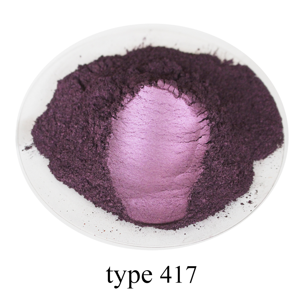 50g Type 417 Rose Violet Pearl Powder Acrylic Paint For Arts Automotive Paint Soap Eye Shadow Dye Colorant Mica Powder Pigment