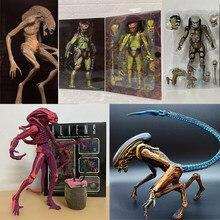 Selva caçador predador neca avp alienígenas vs predador figura ouro kenner líder clã chefe xenomorph figura de ação horror presente