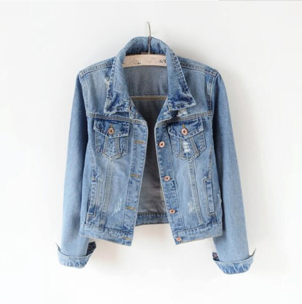 Women Plus Size 5XL Denim Jacket Women Boyfriend Jean Coat Streetwear Harajuku Vintage Autumn Basic Outerwear