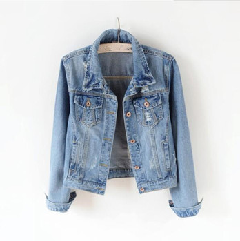Women Plus Size 5XL Denim Jacket Women Boyfriend Jean Coat Streetwear Harajuku Vintage Autumn Basic Outerwear