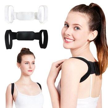 Corrector de postura de espalda ajustable cinturón clavícula espalda hombro Lumbar corrección de postura apoyo Lumbar para hombres mujeres