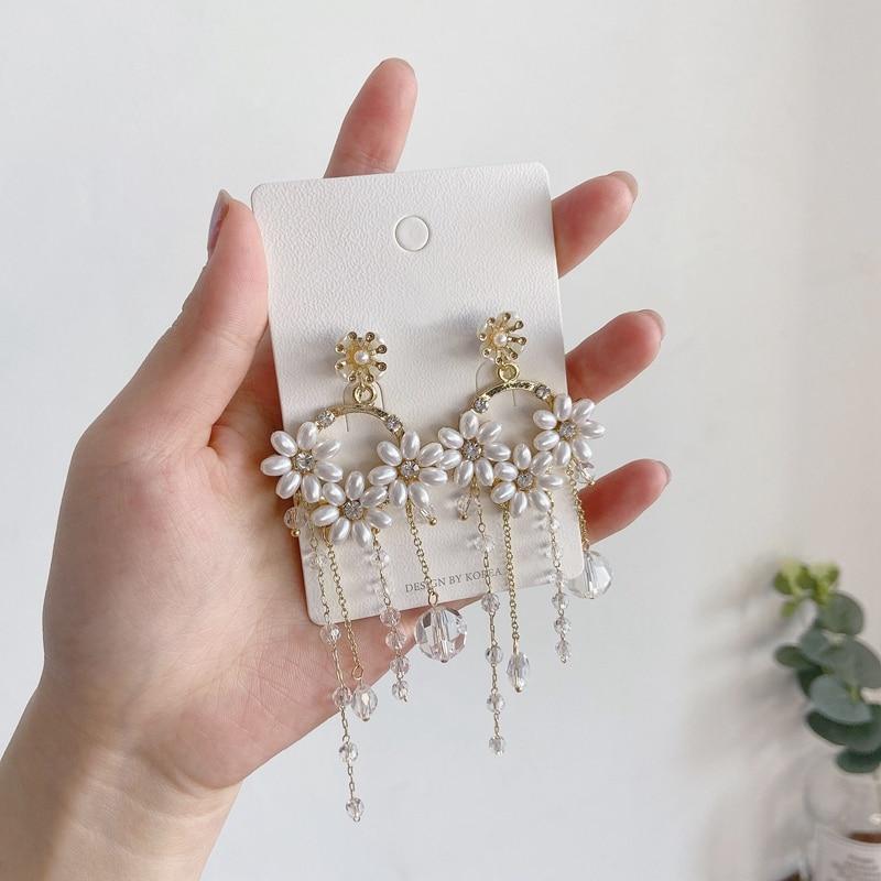 Купить женские серьги подвески mengjiqiao новые увеличенные женские
