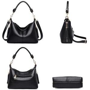 Image 5 - Leather Small Hobos Luxury Handbags Women Bags Designer Handbags High Quality Crossbody Bags For Women Shoulder Bag Sac A Main
