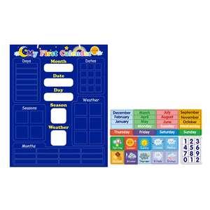 Toys Weather-Calendar Magnetic-Board Children Learning Whole-Brain-Development Wisdom