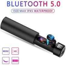 цена на New Smart Digital Display HBQ-Q32 Bluetooth Earphone CVC Noise Reduction IPX5 Waterproof Sport Headset Portable Music Earbuds