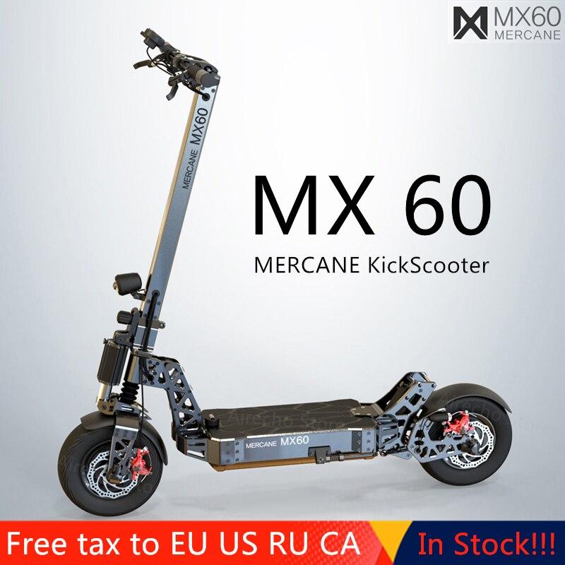 """Le plus récent Scooter électrique intelligent Mercane MX60 2400W 60 km/h 100km gamme de Kickscooter pliable 11 """"pneu double frein longue planche à roulettes"""