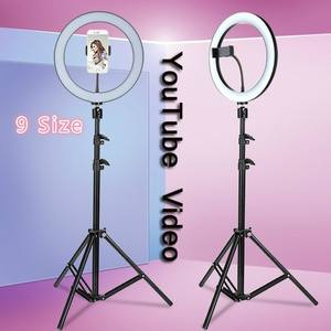 Lighting Video-Lamp Tripod Youtube Led Dimmable Selfie Warm Cold with 50/160cm Three-Speed