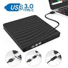 KuWFi USB 3,0 Externe CD Stick Typ C Externe CD Stick Dual Interface DVD Brenner Schriftsteller DVD-RW DVD ROM Player für Laptop & PC