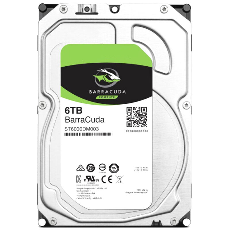 """New HDD For Seagate Brand BarraCuda 6TB 3.5"""" SATA 6 Gb/s 256MB 5400RPM For Internal HDD For surveillance HDD For ST6000DM003 4"""