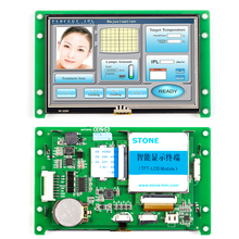 Support Any Microcontroller Intelligent UART LCD Touch Module 4.3 inch