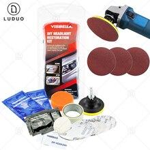 Diy Voertuig Koplamp Restauratie Kit Koplamp Herstellen Cleaner Met Uv bescherming Auto Licht Polijstmachine Polijsten Kit