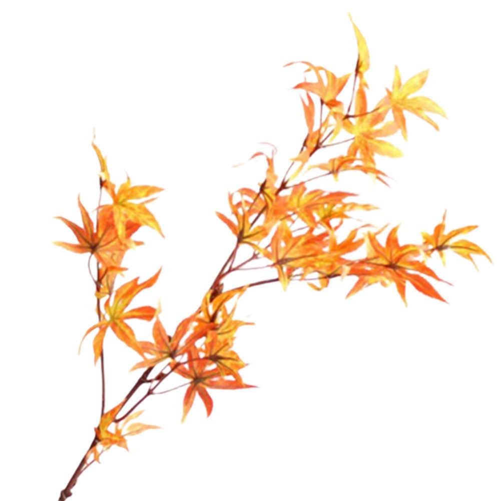 ประดิษฐ์ดอกไม้จำลองดอกไม้ประดิษฐ์ตกแต่งโรงงานสีเขียวสำหรับงานปาร์ตี้คริสต์มาส Maple Leaf Plant Wall