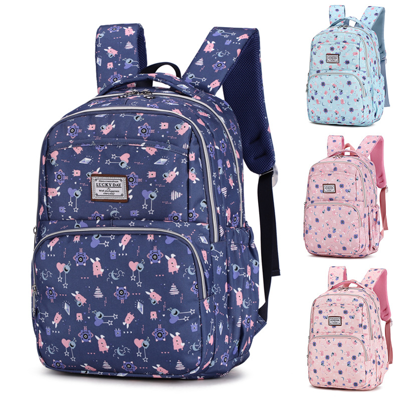 New Style Korean-style MORI Series Campus Young STUDENT'S Middle School Students School Bag 3-6 Grade Large Capacity Backpack Tr