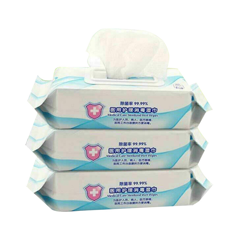 75% 180mm*200mm Non-woven Wipes Hand Surface Universal Clean Pads Wipe Wet Wipes 25Pcs(China)