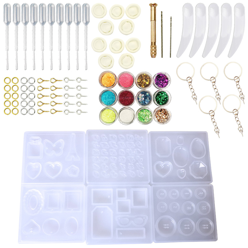 DIY Jewelry Casting Molds Tools Set More Silicone Jewelry Resin Molds With Designs Earring Molds With  Designs