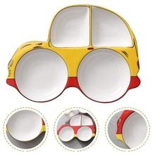 High Quality Ceramic Kids Food dishes Cartoon Car Breakfast