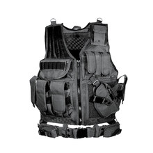 Gilet tactique avec attache Molle pour l'armée,équipement militaire, qui possède une armure de chasse, matériel airsoft, outil protection, utile au combat, adaptable à Paintball CS, Wargame 8,