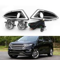 Areyourshop New Front Bumper Fog Lights Lamps Harness Switch Kit For Ford Edge 2015 2018 Fog Lamps Light Car Auto Accessories