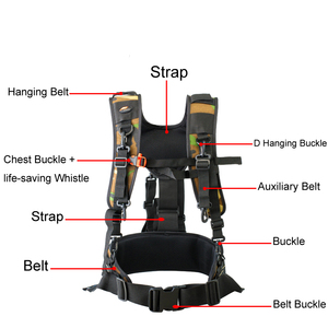 Image 2 - Camera DSLR Utility Belt Technical Harness Kit Photography Hanging Lens Pouch  Case Multifunctional Fixed Backpack Strap