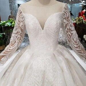 Image 4 - BGW HT562 vestidos de boda de estilo europeo con tren largo con encaje trasero vestido de boda de lujo 2020 nuevo diseño de moda