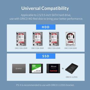 Image 5 - ORICO אלומיניום 4 מפרץ 3.5 אינץ SATA ל usb HDD מארז עם 150W כוח פנימי תמיכה 64TB HDD תחנת עגינה עבור מחשב נייד מחשב