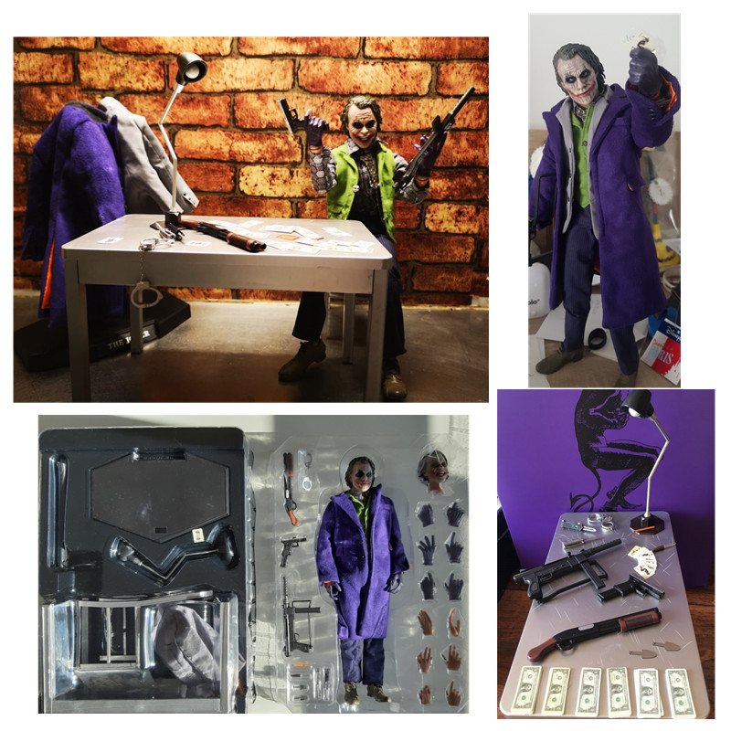 Hot 12inch The Dark Knight Joker Batman Variant Real Clothes Joker PVC Action Figure Collectible Model Toy Gift Doll
