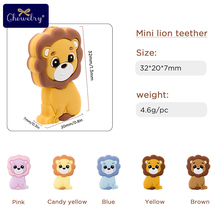 5PC Baby Teether Rodents Cute Lion Silicone Beads Baby Toys