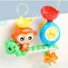 Игрушки для ванны детская водная игра обезьянка поворот игрушка