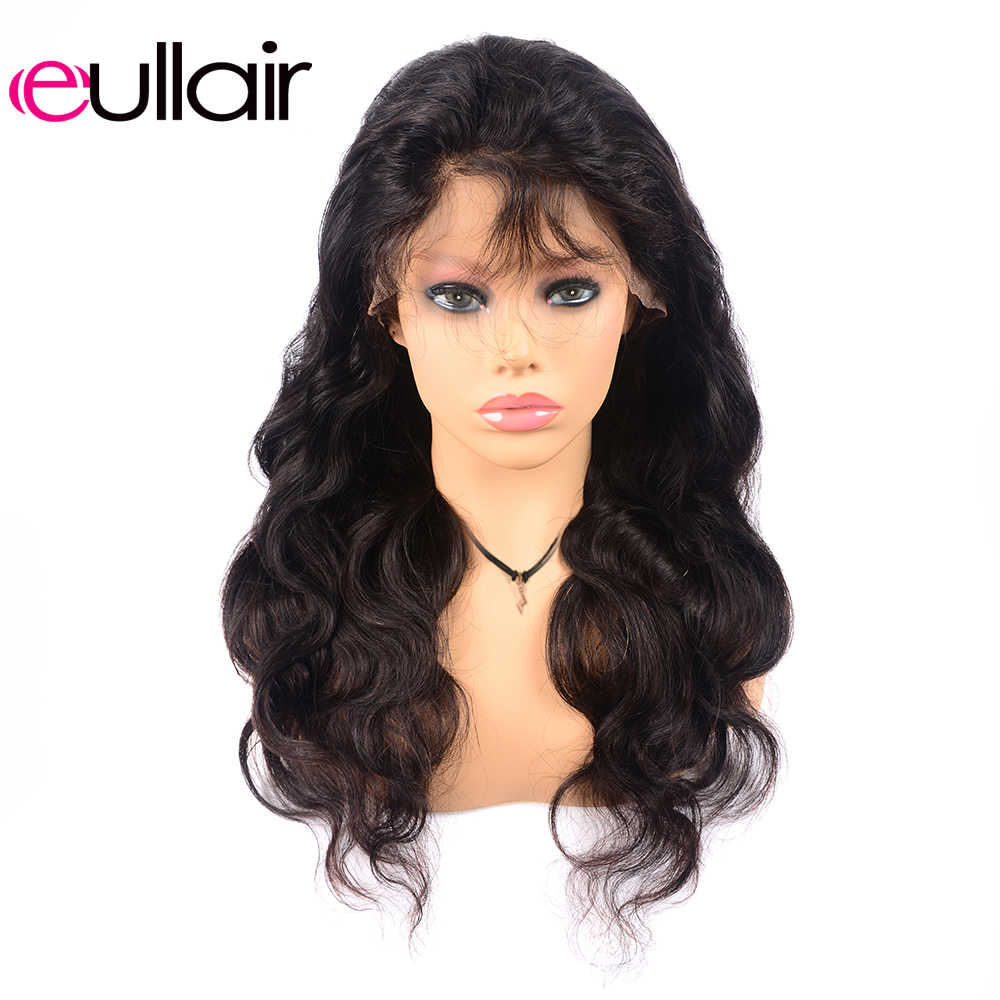eullair Brazilian Remy 13X4 Lace Front Human Hair Wigs 150% Body Wave Lace Front Wigs Pre-Plucked with Baby Hair For Black Women